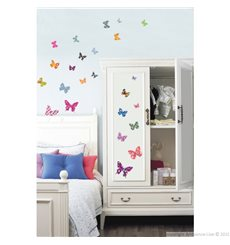 Sticker papillons multicolores 2