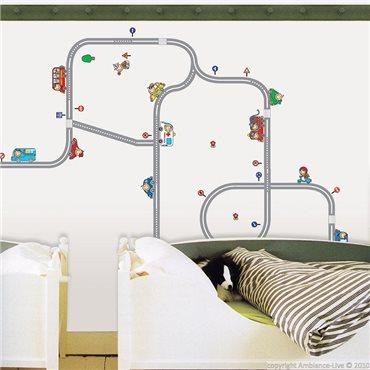 Sticker Train miniature - stickers chambre enfant & stickers enfant - fanastick.com