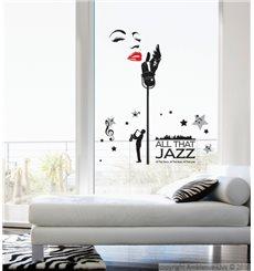 Sticker Chanteur de Jazz