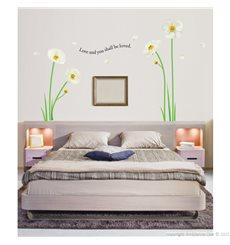 Sticker Fleurs pavots blanches
