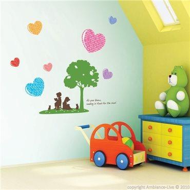 Sticker Arbre et coeur - stickers chambre enfant & stickers enfant - fanastick.com