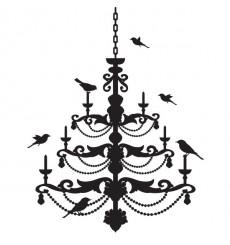 Sticker Oiseaux sur lustre