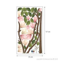 Sticker fleurs Magnolia roses