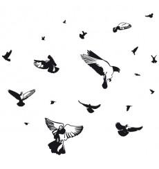 Sticker Envol de pigeons