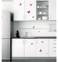 Sticker Papillons roses