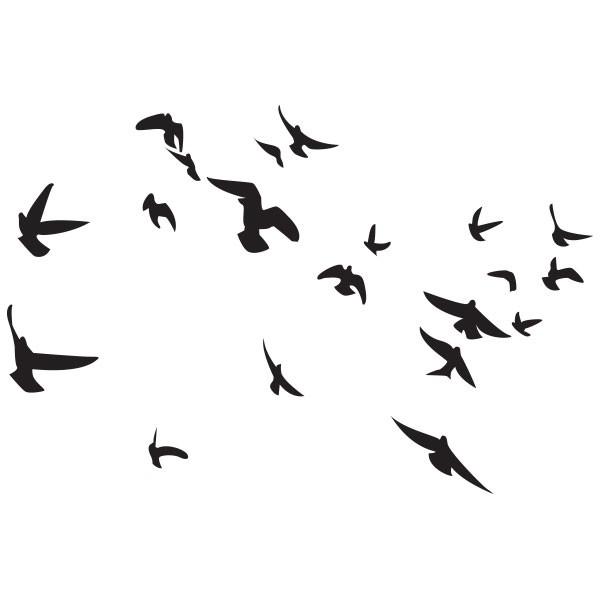 sticker envol d 39 oiseaux stickers oiseaux stickers muraux. Black Bedroom Furniture Sets. Home Design Ideas