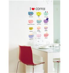 Sticker cuisine I love coffee
