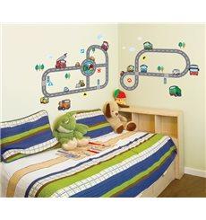 Sticker deux circuits de voitures et d'autobus