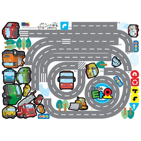 sticker deux circuits de voitures et d 39 autobus stickers chambre enfant stickers enfant. Black Bedroom Furniture Sets. Home Design Ideas