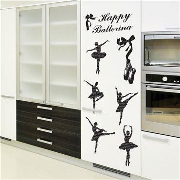 Sticker Danseuse de ballet - stickers salon & stickers muraux - fanastick.com
