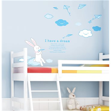 Sticker Lapin - stickers chambre enfant & stickers enfant - fanastick.com