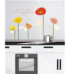 Sticker tulipes multicolores