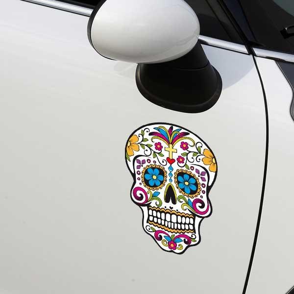 sticker crane mexicain stickers t te de mort stickers muraux. Black Bedroom Furniture Sets. Home Design Ideas