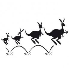Sticker Famille kangourou