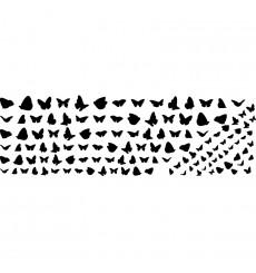 Sticker nuée de papillon Monarque