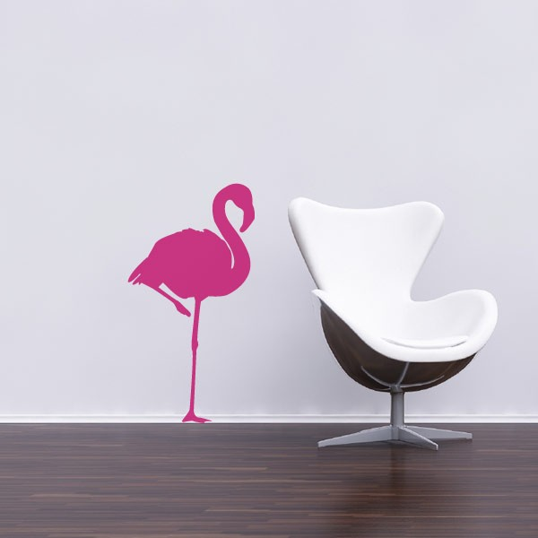 Sticker flamant rose stickers oiseaux stickers muraux - Stickers flamant rose ...