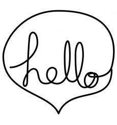 Sticker Hello