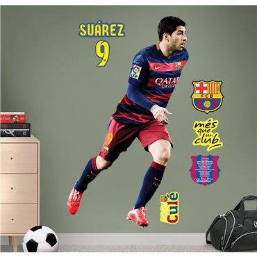 Sticker FC Barcelone - Luis Suarez 120cm® - stickers foot & stickers muraux - fanastick.com