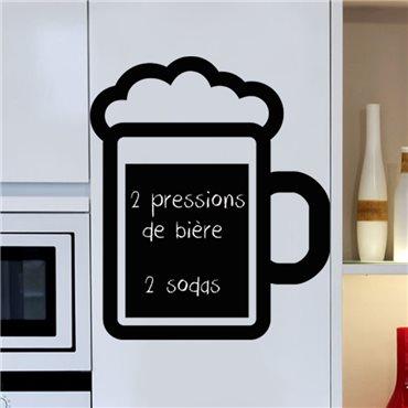 Sticker ardoise Mousse de bière - stickers ardoise & stickers muraux - fanastick.com