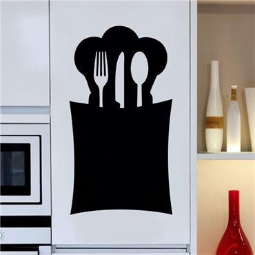 Sticker ardoise Design range-cuillère - stickers ardoise & stickers muraux - fanastick.com