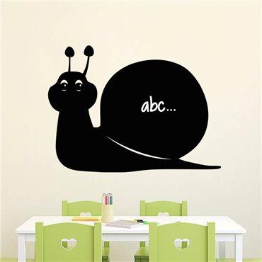 Sticker ardoise Silhouette escargot - stickers ardoise & stickers muraux - fanastick.com