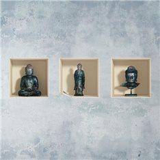 Sticker à effet 3D  Bouddha