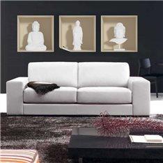 Sticker à effet 3D  Bouddha blanc