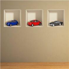 Sticker effet 3D voitures