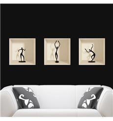 Sticker effet 3D figurines danseuses