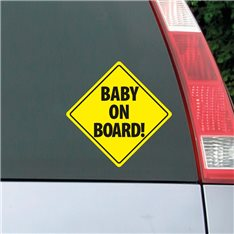 Sticker auto Plaque Baby on board