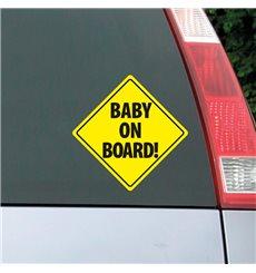 Sticker auto Plaque Baby on board