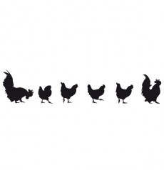 Sticker Les poules