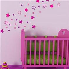 Sticker étoiles roses