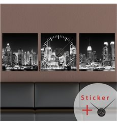 Sticker horloge Vue sur New York