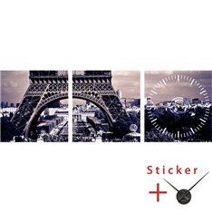 Sticker  horloge Tour eiffel, ville de Paris