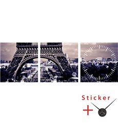 Sticker  horloge Tour eiffel, ville de Paris