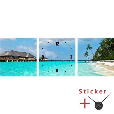 Sticker horloge Panorama d'un paysage tropical - stickers horloge & stickers muraux - fanastick.com
