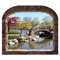 Sticker trompe l'oeil Jardin japonais