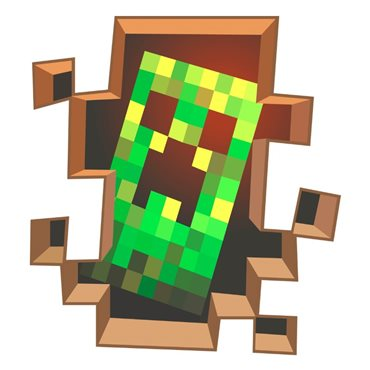 Sticker  Minecraft game, Creeper - stickers trompe l oeil & stickers muraux - fanastick.com