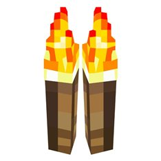 Sticker  Minecraft jeu, torches