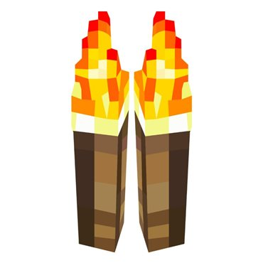 Sticker  Minecraft jeu, torches - stickers trompe l oeil & stickers muraux - fanastick.com