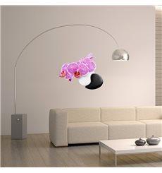 Sticker ZEN Orchidée et cailloux