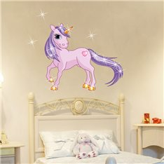 Sticker Princesse Licorne & 15 Swarovski crystal 3mm