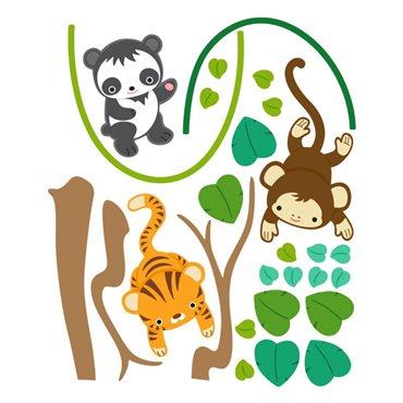 Sticker set animaux jungle - import2503 & stickers muraux - fanastick.com