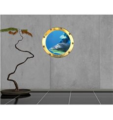 Sticker Trompe l'oeil requin