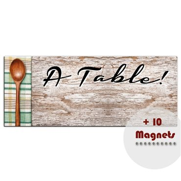 Sticker magnétique À Table! - stickers magnétiques & stickers muraux - fanastick.com