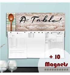 Sticker magnétique À Table!