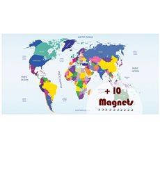 Sticker magnétique carte du monde