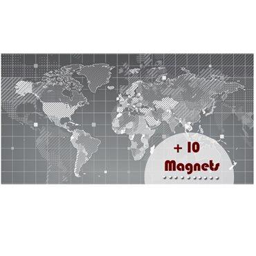 Sticker magnétique carte du monde design - stickers magnétiques & stickers muraux - fanastick.com