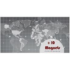 Sticker magnétique carte du monde design